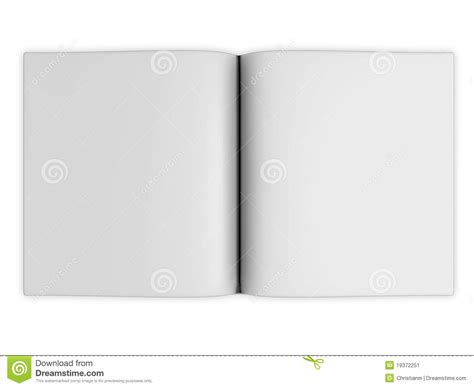 Blank Open Book Pages Stock Illustration. Illustration Of
