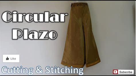 Circular Plazo  How To Sewing Tutorial  Diy Youtube