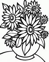 Coloring Sunflower Pages Colouring Flowers Pdf sketch template