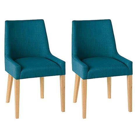 debenhams pair of teal blue ella upholstered tub dining