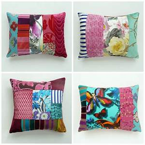 Contemporary, Patchwork, Cushions, By, Suzy, Newton