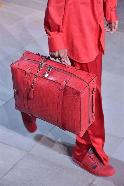 louis vuitton mens fallwinter  runway bag collection spotted fashion