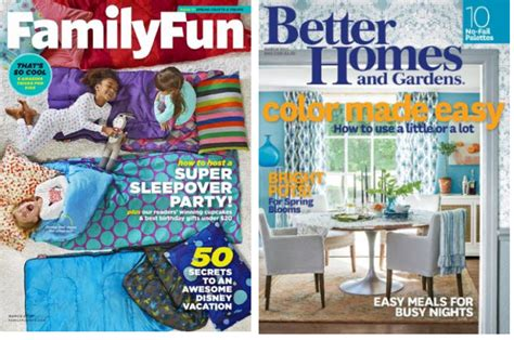coupons and freebies free 1 year magazine subscriptions