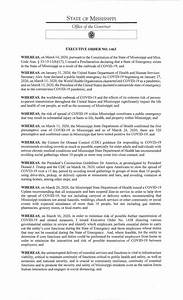 Reeves Signs Executive Order To Slow The Spread Of Covid