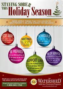 staying sober during the holidays infographic