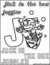 Juggler Coloring Jackinthebox sketch template