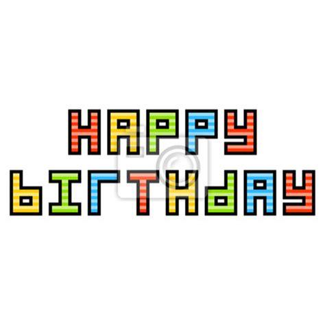 papier peint chambre à coucher papier peint 8 bit pixel joyeux anniversaire message