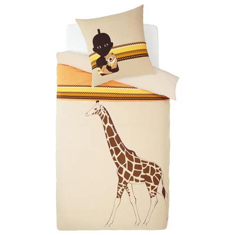 housse de couette girafe parure housse de couette enfant kirikou maisons du monde