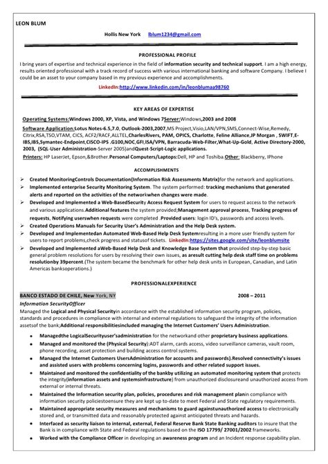 Cyber Security Consultant Resume by Information Security Officer Resume Blum Copy