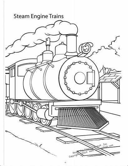 Trains Coloring Books Really Drawing Getdrawings Steam