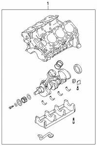 2004 Kia Amanti Short Engine Assy