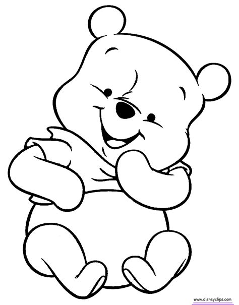 Baby Coloring Pages Baby Pooh Coloring Pages Disney S World Of Wonders