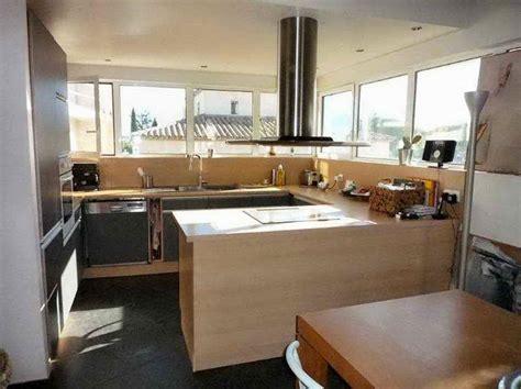 cuisine en l ouverte sur salon decoration interieur salon cuisine 2017 avec aménagement