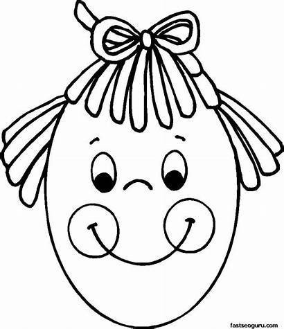 Coloring Symmetry Face Colouring Pages Printable Clipart