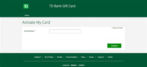 card gift td bank info number tdbank fraud balance
