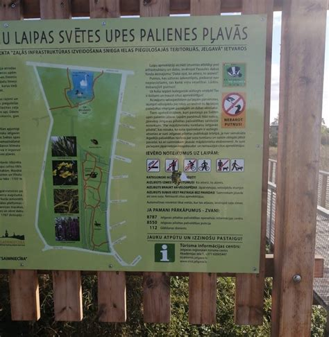 Koka pastaigu laipās nomainīts informatīvais stends : Jelgava