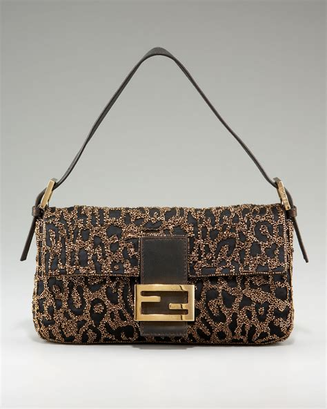 Fendi Embroidered Baguette - Lyst