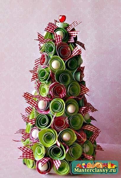 cardboard  ribbon christmas tree decoration