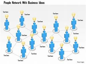 People Network With Business Ideas Powerpoint Template