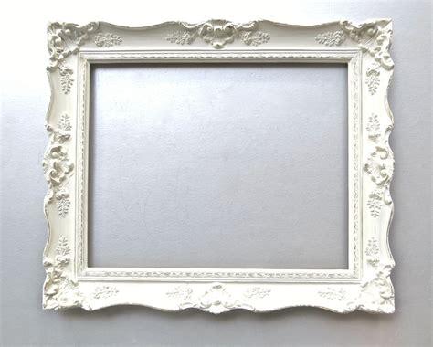 Shabby Cottage Chic Frame Large Vintage Frame Ivory French