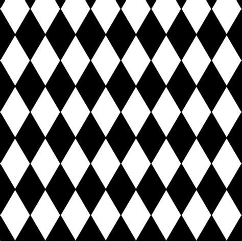 harlequin diamonds black white small fabric