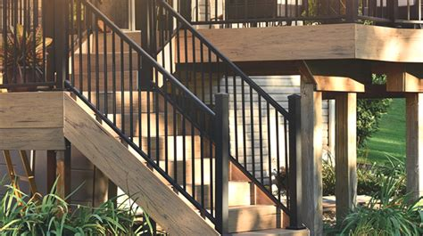steel deck handrails metal stair railing deck porch stair railing