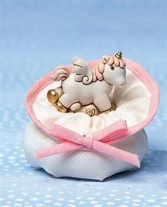 Bomboniere Battesimo Bimba Cavallucci Unicorni Rosa AD