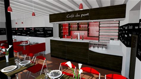 ncdesign design d espace cafe du port magasin design bar granc maisy agencement