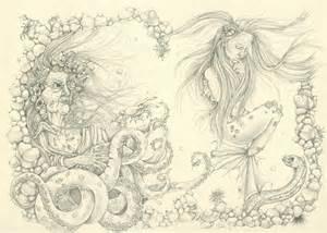 Underwater Mermaid Pencil Drawings