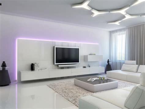 Wohnzimmer shabby chic modern wohnwand eiche schrankwand design. Moderne Wohnwand mit LED Beleuchtung - 55 Ideen