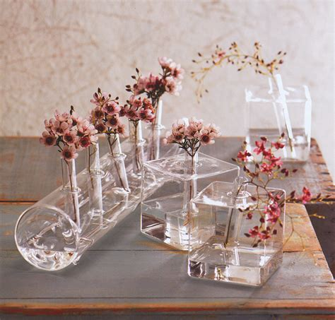 dining table floral arrangements modernist ikebana vases cube glass vase nova68 com