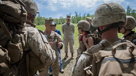 secretary   navy davidson visits marines