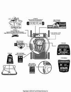 Troy Bilt Tb280es 12aga26e011  2012  12aga26e011  2012  Parts Diagram For Label Map Tb280es