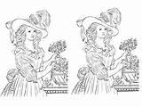 Marie Antoinette Coloring Printables sketch template