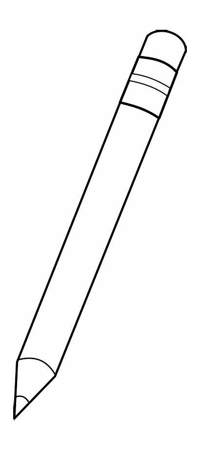 Pencil Outline Crayon Mine Vector Clipart Bw
