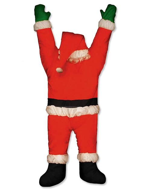santa hanging from door guttering outdoor decoration 1 5m large decor inflatables the