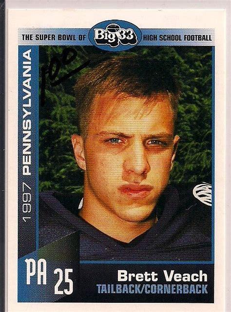 big  pennsylvania  brett veach football card cards
