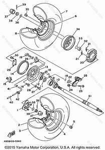 Yamaha Atv 1996 Oem Parts Diagram For Rear Wheel