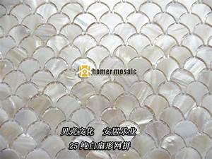 Mosaik Fliesen Kaufen : fischschuppen pure white shell mosaik fliesen fan mopp perlmutt wand k che ~ Frokenaadalensverden.com Haus und Dekorationen
