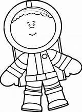 Astronaut Coloring Boy Boys Cool sketch template