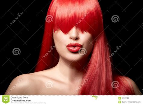 Sensual Beauty Portrait Of A Red Haired Young Woman Stock