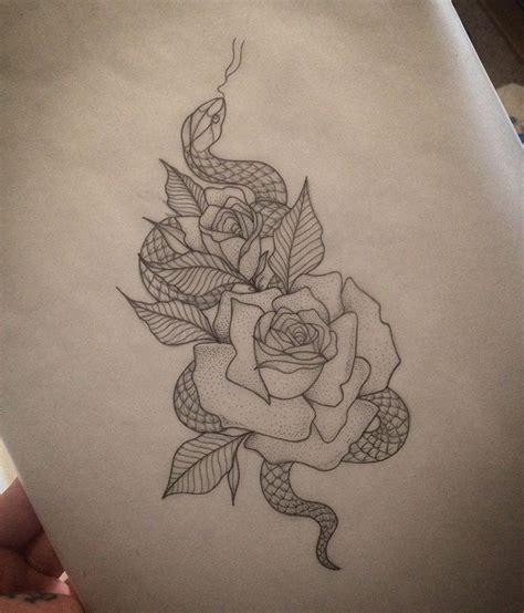 rose snake tattoo  medusa lou tattoo artist