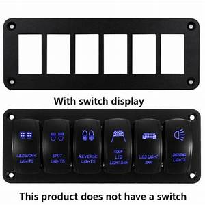 6 Gang Toggle Rocker Switch Panel Metal Board Blank For Rv