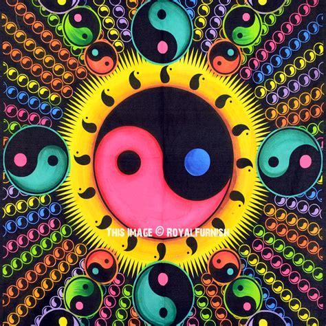 colorful yin yang colorful yin yang hippie tapestry royalfurnish