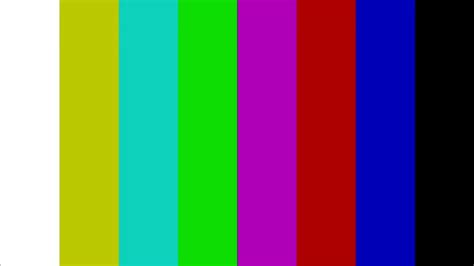 Color Test Pattern Stock Video Footage