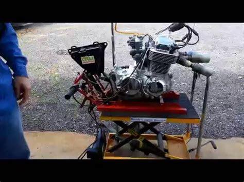honda cb  engine carbs  test stand  randy