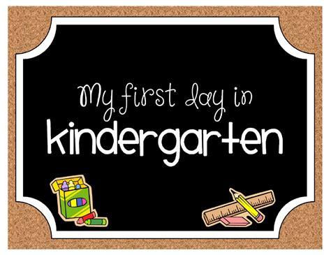 day of kindergarten photo printable 961 | kindergarten