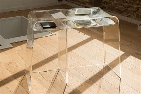 bureau en plexiglas bureau transparent