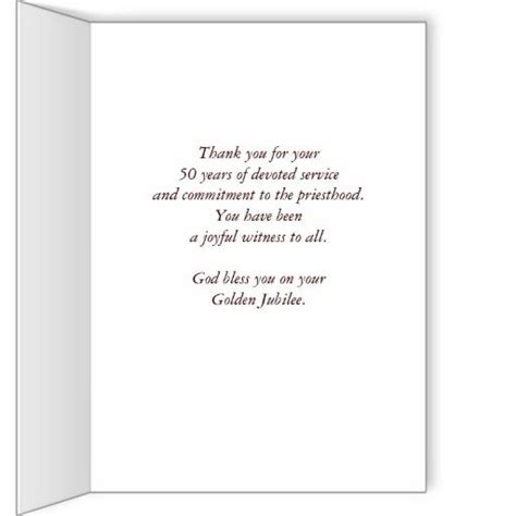 priest 50th anniversary of ordination blessing card priest 50th anniversary of ordination blessing card best anniversary gifts wedding