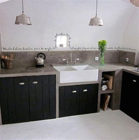 plan de travail en b ton cir cuisine plan de travail exterieur en siporex avec cuisine siporex